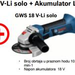 GSR 18-2-LI Plus + GWS 18 V-Li solo + Akumulator Li-Ion 18V 4,0Ah