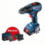 Akumulatorska bušilica-odvrtač GSR 18V-50 + 43-delni set odvrtača + 2 x 2,0 Ah akumulatora + torba za alat